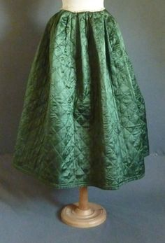 18th century petticoat, made of silk, quilted in diamond shape, Meg Andrews http://www.meg-andrews.com/item-details/Quilted-Petticoat/7748