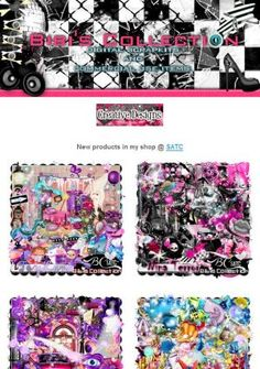 """Ad:New Scrapkits """"TOYLAND"""",""""BOOM BOOM"""", & More by Bibi's Collection! http://mad.ly/0f6253"""