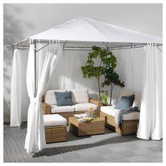 I am undoubtedly liking this blueprint and execution. Fantastic motivation if you're finding guidelines for Decor, Furniture, Gazebo Curtains, Home, Hot Tub Gazebo, Backyard Decor, Ikea, White Gazebo, Back Garden Design