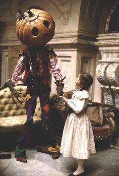 Dorothy meets Jack Pumpkinhead. One of my favorite scenes from Return to Oz