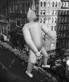 Circa 1939, Times Square, Manhattan, NY: Macy's Thanksgiving Day Parade