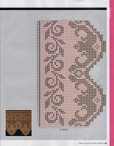 Crochet and arts: Crochet edges Crochet Lace Edging, Crochet Borders, Crochet Doilies, Filet Crochet Charts, Crochet Stitches, Knit Crochet, Tatting Patterns, Crochet Patterns, Diy Crafts Crochet