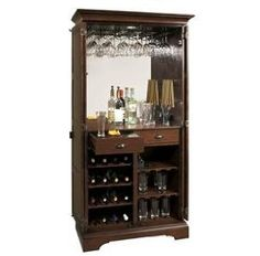Armoire Bar Cabinet - Cabinets include a special feel to any room. Based on the cabinet, you can get beauty or functionali Armoire Bar, Wine Bar Cabinet, Wine Cabinets, Wine Furniture, Furniture Design, Office Furniture, Bar Antique, Living Room Bar, Home Bar Designs