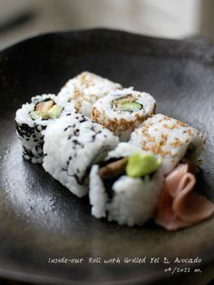 Recipe: Inside-out Roll Sushi with Grilled Eel and Avocado|鰻とアボカドの裏巻き寿司
