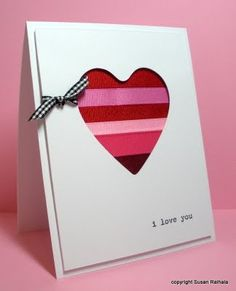 ♥ Reuse ribbon and other materials to make a homemade Valentine's Day card ♥
