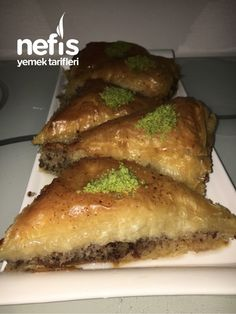 Baklava with Cake (A Great Taste) - Site Turkish Recipes, Ethnic Recipes, Turkish Delight, Cheesesteak, Meatloaf, Yogurt, Tatting, Breakfast Recipes, French Toast