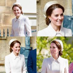 The Duchess of Cambridge attends Easter Day service at St. George's chapel today. || 16 April 2017