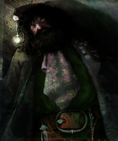 Sneak peek: Hagrid, as depicted in the new fully-illustrated hardcover edition of Harry Potter and the Sorcerer's Stone, out October 2015! Illustration by Jim Kay. Click to learn more. #harrypotter