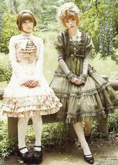 Iris Garden Handmade Kawaii Japenese street fashion frilly Lolita ribbons egl torchon lace