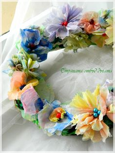Country beyond the arc: Spring wreath of paper - Paper Spring Wreath