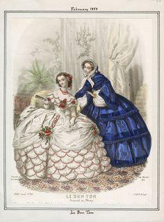 Le Bon Ton February 1858 LAPL