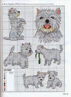 Grande raccolta di schemi a punto croce a tema cani