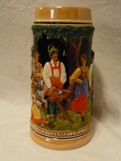 "#3268/9/0/1--Very large german majolica beer stein--size 4.50"" round x 9.00"" hi--- - http://get.sm/SzCWZCg #tradebank General Merchandise,Hamilton ON"