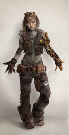 sketch by seung gue lee Post Apocalyptic Costume, Post Apocalyptic Art, Post Apocalypse, Character Concept, Character Art, Dystopian Art, Apocalypse Character, V Model, Fallout Art