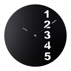 fejs wall clock from ikea Clock Art, Diy Clock, Clock Decor, Clock Ideas, Wall Clock Ikea, Minimalist Clocks, Wall Watch, Cool Clocks, Modern Clock