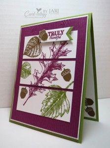Stampin' Up! Vintage Leaves for the Happy Stampers Blog Hop - Card-iology By Jari
