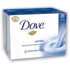 Dove Bar Soap, White, 4 Ounce, 16 Count***Dove bar soap contains 1/4 moisturizing lotion so it doesn't dry your skin like other soaps can,Recommended by dermatologists and pediatricians,Leaves skin feeling softer and smoother,Made in the USA,.