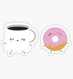 #kawaii #tea #strawberry #donut
