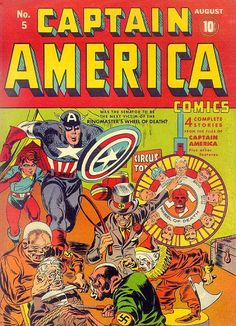 Captain America Comics # 5 by Jack Kirby & Syd Shores
