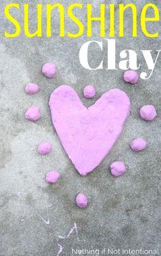 Summer Sunshine Air Dry Clay (Easy, taste-safe recipe!)