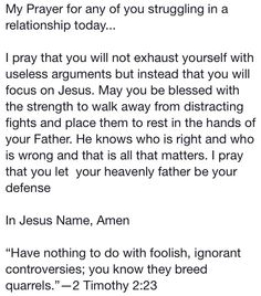 A prayer for struggling relationships