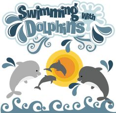 $ Swimming With Dolphins SVG dolphin svg file dolphin svg file for scrapbooking cute clipart