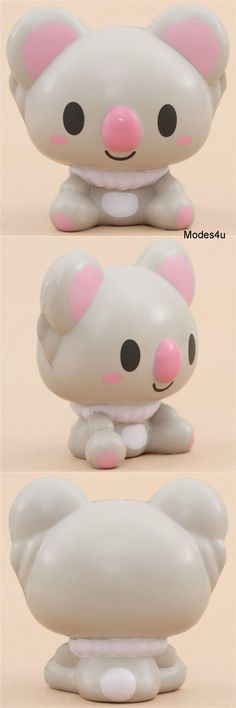 Kawaii iBloom gray koala squishy with pink ears, feet, and nose! Kawaii Plush, Cute Plush, Mini Things, All Things Cute, Cool Squishies, Slime, Ibloom Squishies, Balle Anti Stress, Hedgehog Cake