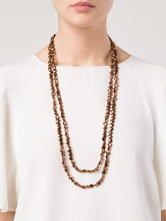 Brunello Cucinelli Beaded Necklace. total length: 64 inches