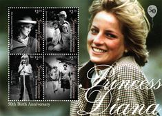 Diana s 50th birthday stamps in memory of princess diana more