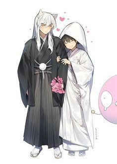 InuYasha & Kagome There wedding day ❤️ , [post_tags Inuyasha Funny, Inuyasha Fan Art, Inuyasha And Sesshomaru, Kagome And Inuyasha, Miroku, Kagome Higurashi, Otaku, Anime Life, Noragami