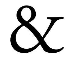& ampersand- garamond