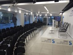 Our black linking conference chairs provided for an event in London. #eventprofs #conference #london #yahire