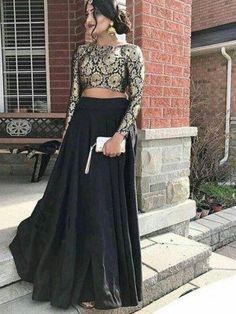 New royal Bollywood black color lehenga choli for bridal.For order whatsapp us on blouse combinations blouse saree blouse work blouse dupatta blouse blouse blouse blouse blouse blouse lengha Indian Lehenga, Lehenga Anarkali, Lehnga Dress, Indian Salwar Kameez, Black Lehenga, Lehenga Top, Sharara, Indian Prom Dresses, Indian Wedding Outfits