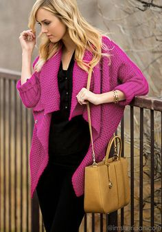 Batwing Sweater Coat - Plum - Super Comfy Chunky Sweater #Christmas #Fashion