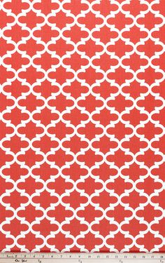 Premier Prints Fulton Coral Fabric by the by ColesCreativeSupply