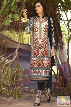 Multi color cotton salwar kameez for collage girls. Purchase this ...