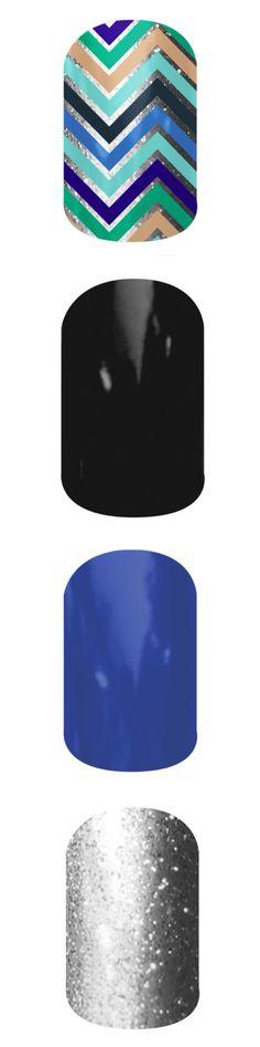 Black and blue (chevron and metallic)