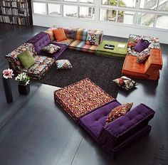 Astounding Cool Floor Pillow Ideas: Large Moroccan tufted floor pillows – PamPai