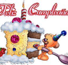 Happy Birthday to You, Felicidades - ツ Imagenes para Cumpleaños ツ Happy Birthday Ecard, Happy Birthday Candles, Birthday Greeting Cards, Birthday Quotes, Birthday Greetings, Glitter Birthday, Christmas Cards, Christmas Ornaments, Birthday Images