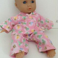 Dolls Clothes 30cm 12inch Pyjamas ELC Cupcake etc Hand Made £5.25