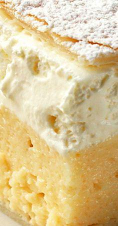 Vanilla Custard Cream Squares