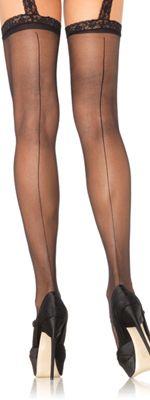 Black Garter Belt Stockings