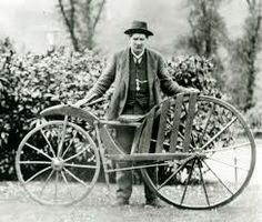1840 The first bicycle to have pedals invented by Kirkpatrick Macmillan (Scottish man)