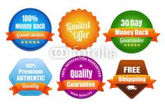 Modern Quality Guarantee Badges