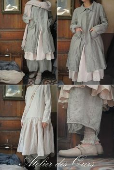Washed Linen Clothing | Boho Women's Fashion | Layered Clothing | Slow Fashion | Layers | The Wild Raspberry Details | Atelieir des Ours| Rosalia