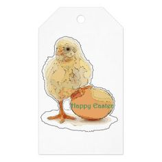 Happy Easter Baby Chick With Egg Gift Collection Gift Tags - paper gifts presents gift idea customize