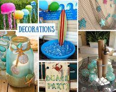 beach birthday party ideas beach party decorations pinterest