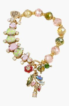 Love! Spring Glam bracelet by Betsey Johnson.
