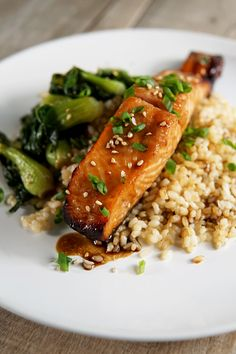 Broiled Honey Soy Salmon