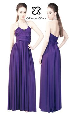 Eliza and Ethan - Multiway - Infinity -  Bridesmaids Dresses - OneSize - Maxi MultiWrap Dress Color: Iris